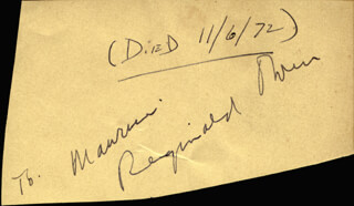 REGINALD OWEN - INSCRIBED SIGNATURE