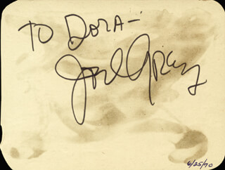 JOEL GREY - INSCRIBED SIGNATURE CO-SIGNED BY: VIVIAN BLAINE