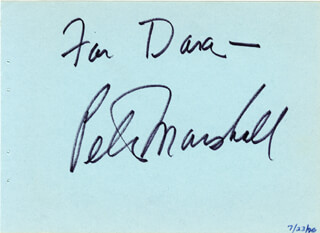 PETER MARSHALL - INSCRIBED SIGNATURE 07/23/1976