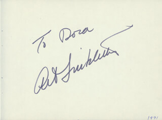 ART LINKLETTER - INSCRIBED SIGNATURE CIRCA 1971