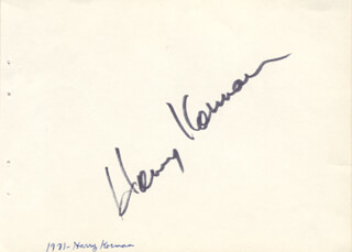 HARVEY KORMAN - AUTOGRAPH 1971
