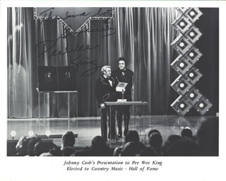 FRANK PEE WEE KING - MAGAZINE PHOTOGRAPH SIGNED