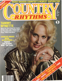 TAMMY WYNETTE - MAGAZINE COVER SIGNED