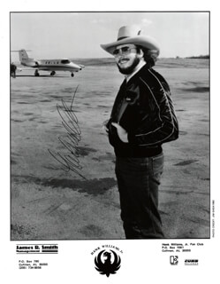HANK WILLIAMS JR. - AUTOGRAPHED SIGNED PHOTOGRAPH CIRCA 1983