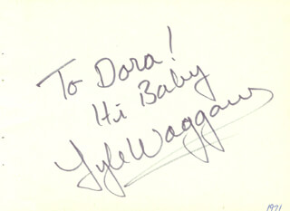 LYLE WAGGONER - AUTOGRAPH NOTE SIGNED CIRCA 1971