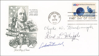 CLYDE WILLIAM TOMBAUGH - FIRST DAY COVER SIGNED CO-SIGNED BY: FRED LAWRENCE WHIPPLE, LUBOS KOHOUTEK