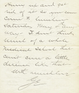 GEORGE EASTMAN - AUTOGRAPH LETTER SIGNED 04/15/1929