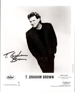 T. GRAHAM BROWN - PRINTED PHOTOGRAPH SIGNED IN INK