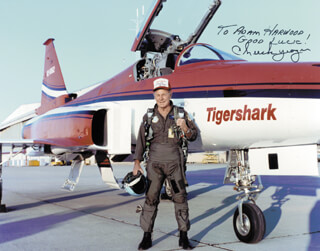 BRIGADIER GENERAL CHUCK YEAGER - AUTOGRAPHED INSCRIBED PHOTOGRAPH