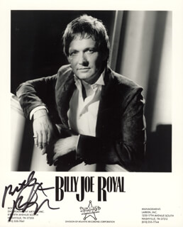 BILLY JOE ROYAL - PRINTED PHOTOGRAPH SIGNED IN INK