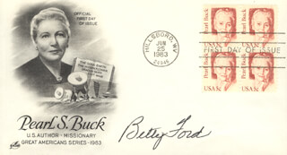 FIRST LADY BETTY FORD - FIRST DAY COVER SIGNED