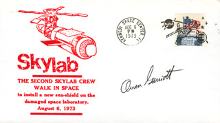OWEN K. GARRIOTT - COMMEMORATIVE ENVELOPE SIGNED