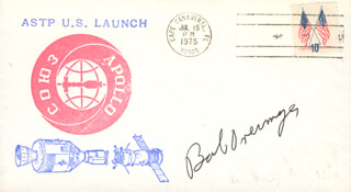 COLONEL ROBERT OVERMYER - COMMEMORATIVE ENVELOPE SIGNED