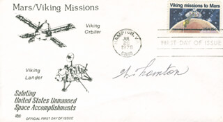 WILLIAM E. THORNTON - FIRST DAY COVER SIGNED