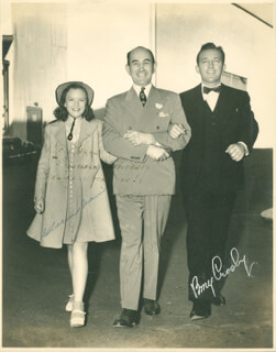 IF I HAD MY WAY MOVIE CAST - AUTOGRAPHED SIGNED PHOTOGRAPH CO-SIGNED BY: GLORIA JEAN, BING CROSBY