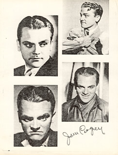 JAMES CAGNEY - PRINTED PHOTOGRAPH SIGNED IN INK
