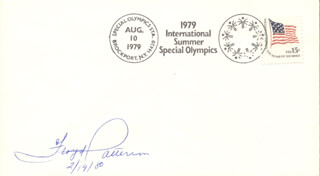 FLOYD PATTERSON - COMMEMORATIVE ENVELOPE SIGNED 02/19/1980