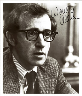 WOODY ALLEN - AUTOGRAPHED SIGNED PHOTOGRAPH