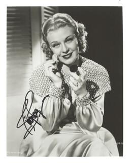 GINGER ROGERS - AUTOGRAPHED SIGNED PHOTOGRAPH