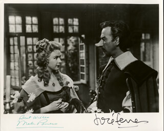 CYRANO DE BERGERAC MOVIE CAST - AUTOGRAPHED SIGNED PHOTOGRAPH CO-SIGNED BY: MALA POWERS, JOSE FERRER