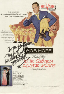 BOB HOPE - INSCRIBED MAGAZINE ADVERTISEMENT SIGNED 1986