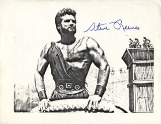 STEVE REEVES - PRINTED PHOTOGRAPH SIGNED IN INK