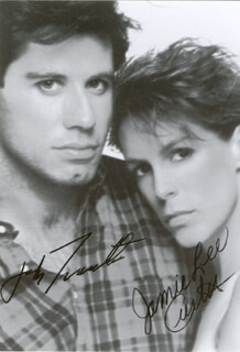 PERFECT MOVIE CAST - AUTOGRAPHED SIGNED PHOTOGRAPH CO-SIGNED BY: JAMIE LEE CURTIS, JOHN TRAVOLTA