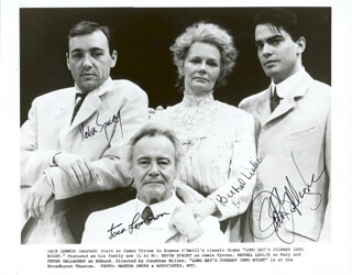 LONG DAY'S JOURNEY INTO NIGHT PLAY CAST - AUTOGRAPHED SIGNED PHOTOGRAPH CO-SIGNED BY: JACK LEMMON, KEVIN SPACEY, PETER GALLAGHER, BETHEL LESLIE