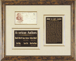 ERSKINE CALDWELL - FIRST DAY COVER SIGNED CO-SIGNED BY: ISAAC ASIMOV, ROBERT PENN WARREN, ALEX HALEY, LEON URIS, EDWARD ALBEE