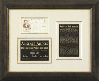 ERSKINE CALDWELL - FIRST DAY COVER SIGNED CO-SIGNED BY: STEPHEN KING, ISAAC ASIMOV, ROBERT PENN WARREN, ALEX HALEY, LEON URIS, EDWARD ALBEE