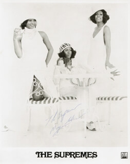 THE SUPREMES (MARY WILSON) - PRINTED PHOTOGRAPH SIGNED IN INK