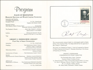 PRESIDENT RICHARD M. NIXON - PROGRAM SIGNED CIRCA 1969 CO-SIGNED BY: GENERAL ALEXANDER M. HAIG JR.