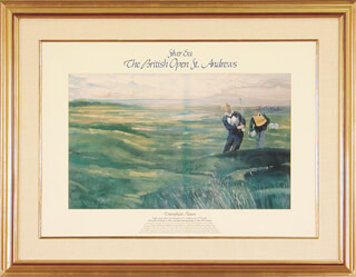 JACK NICKLAUS - PRINTED ART SIGNED IN INK CIRCA 1985