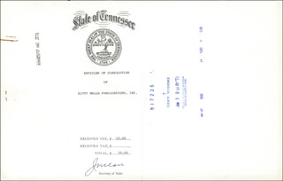 Autographs: JOE C. CARR - DOCUMENT SIGNED 05/24/1971