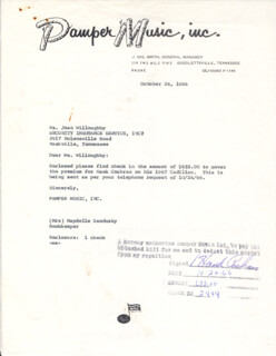 HANK COCHRAN - DOCUMENT SIGNED 10/24/1966