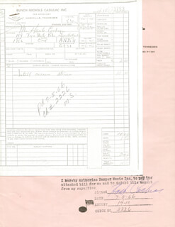 HANK COCHRAN - DOCUMENT SIGNED 07/05/1966