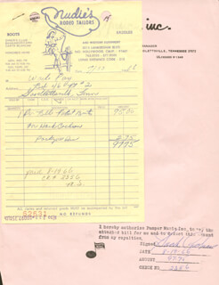 HANK COCHRAN - DOCUMENT SIGNED 08/19/1966