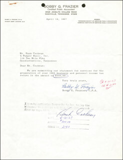 HANK COCHRAN - DOCUMENT SIGNED 04/21/1967