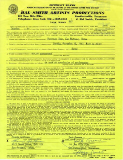 JACK GREENE - CONTRACT SIGNED 10/20/1967