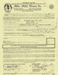 CHARLIE WALKER - CONTRACT SIGNED 10/22/1973