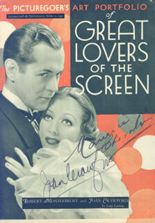 JOAN CRAWFORD - MAGAZINE SIGNED CIRCA 1932 CO-SIGNED BY: MAURICE CHEVALIER