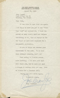 JOAN CRAWFORD - TYPED LETTER SIGNED 08/23/1949