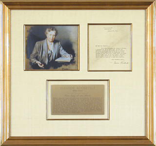 FIRST LADY ELEANOR ROOSEVELT - TYPED LETTER SIGNED 01/29/1941