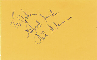 PHIL SILVERS - INSCRIBED SIGNATURE