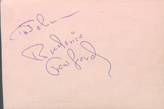 BRODERICK CRAWFORD - INSCRIBED SIGNATURE