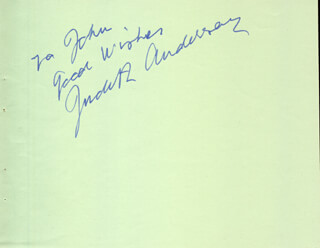 DAME JUDITH ANDERSON - AUTOGRAPH NOTE SIGNED