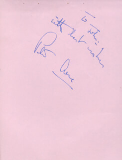 Autographs: PETER ARNE - AUTOGRAPH NOTE SIGNED