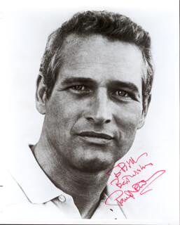 PAUL NEWMAN - AUTOGRAPHED INSCRIBED PHOTOGRAPH