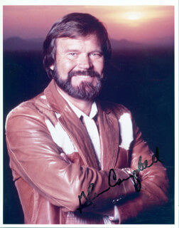GLEN CAMPBELL - AUTOGRAPHED SIGNED PHOTOGRAPH