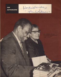 Autographs: PAUL L. ROBESON - PROGRAM SIGNED